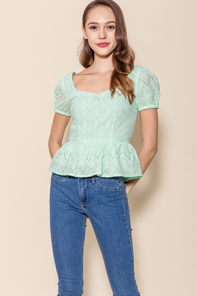 Chrysalis Crochet Top (Mint)