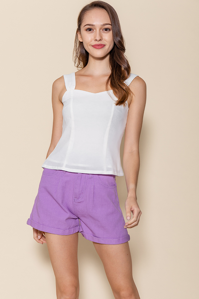 Bella Sweetheart Top (White)