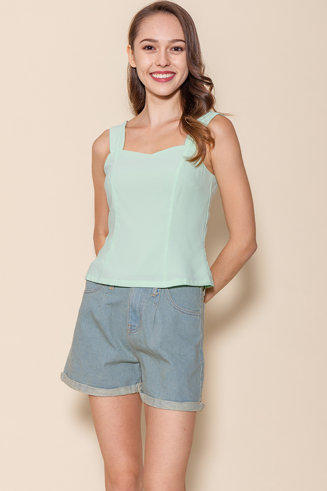 Bella Sweetheart Top (Mint)