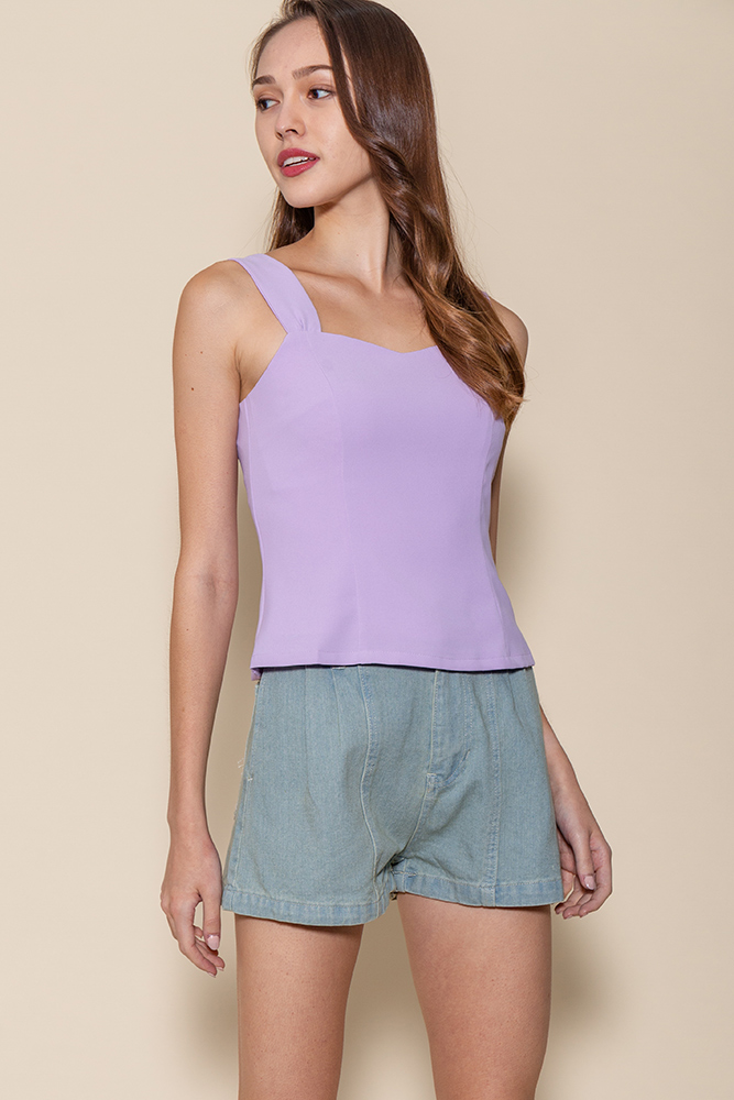 Bella Sweetheart Top (Lilac)