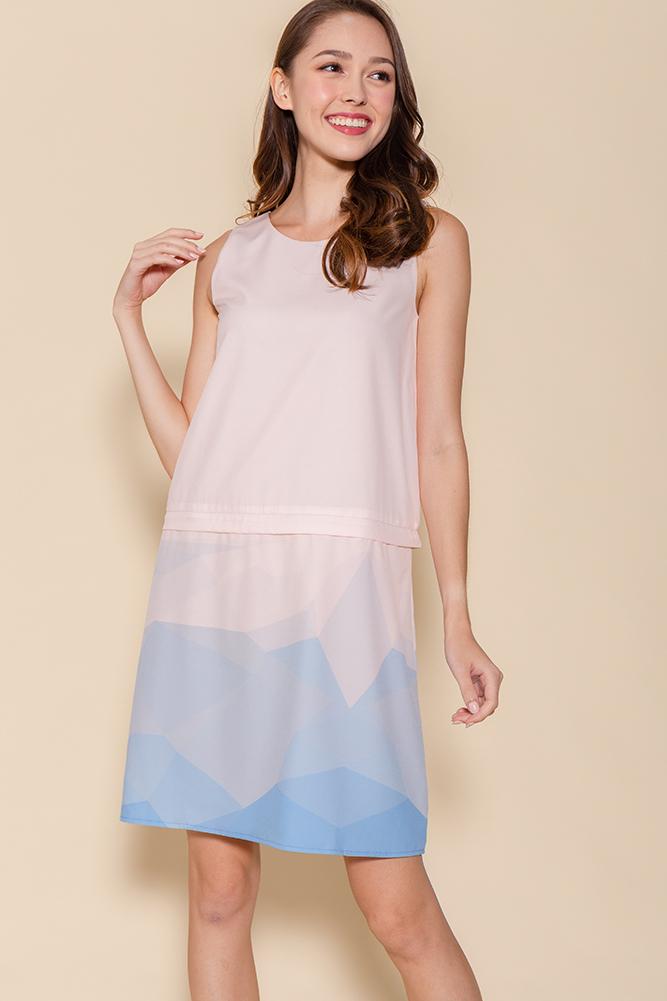 Malory Convertible Ombre Shift Dress (Pink)
