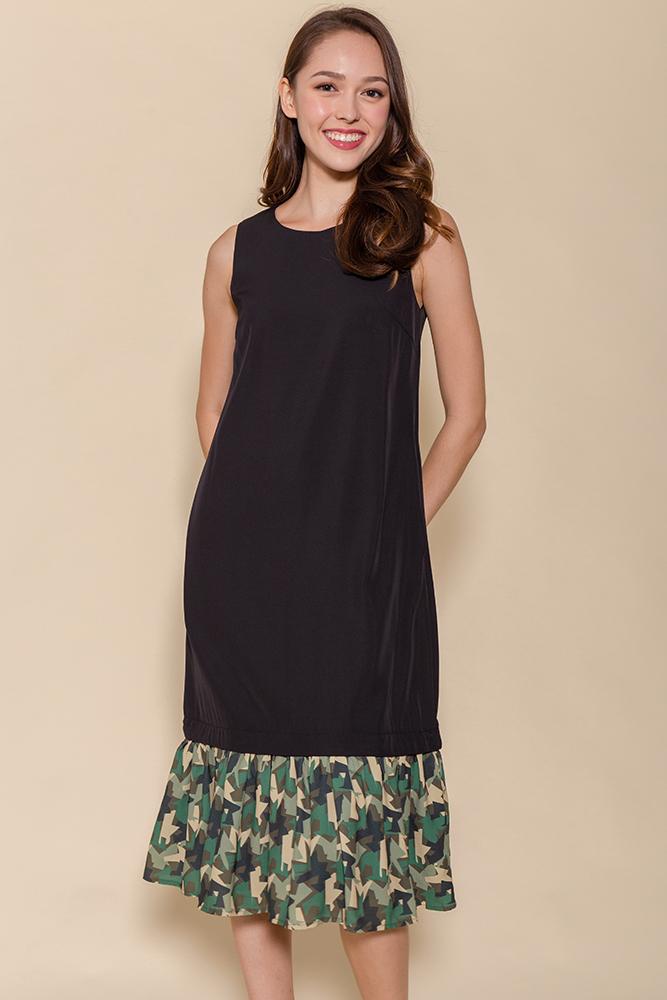 Miss Poppins Dress W Removable Hem (Black)