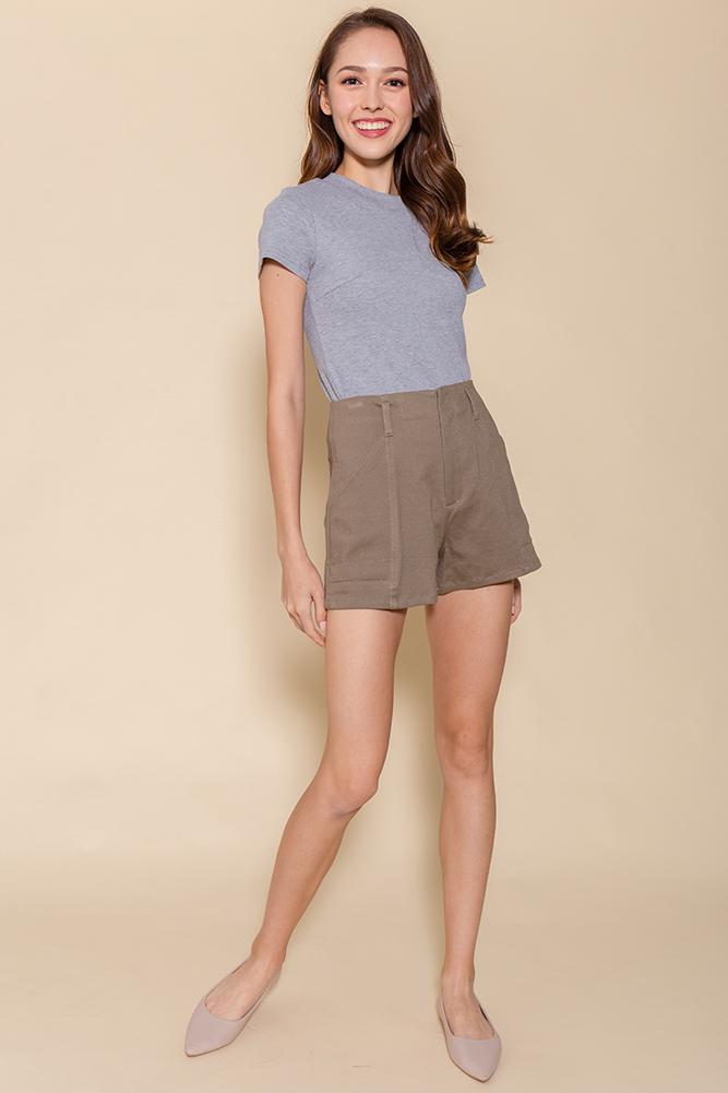 Hello Vacay! Shorts (Mocha)