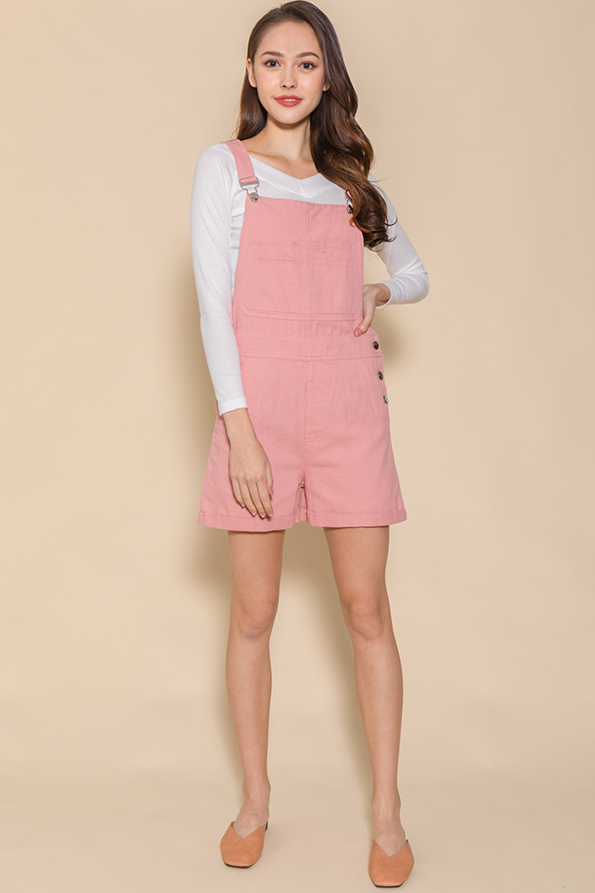 Secret Adventures Denim Dungaree (Pink)
