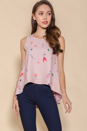 *BACKORDER* My Secret Garden Reversible Top W Fabric Mask (Pink)