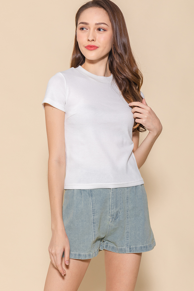 Bexley Basic Ribbed Top (White)