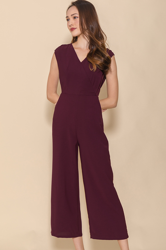 The Power Statement Jumpsuit (Wine)