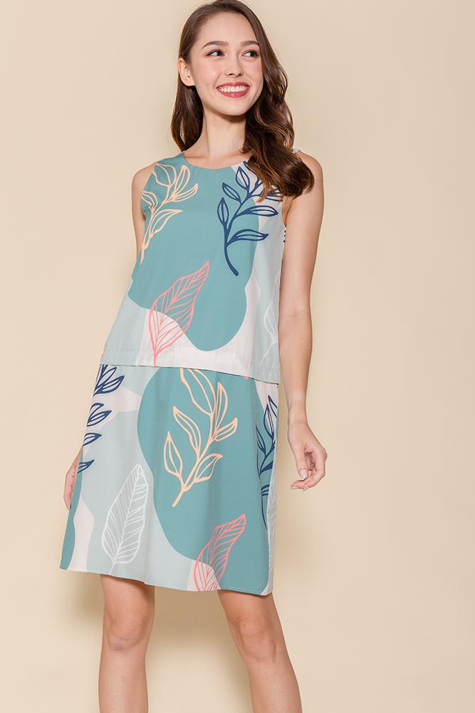 Dance Of The Flora Convertible Dress (Sage)