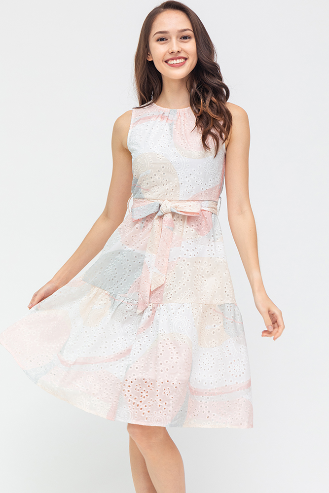 Colours Of The Wind Eyelet Dress (Creme Delight)