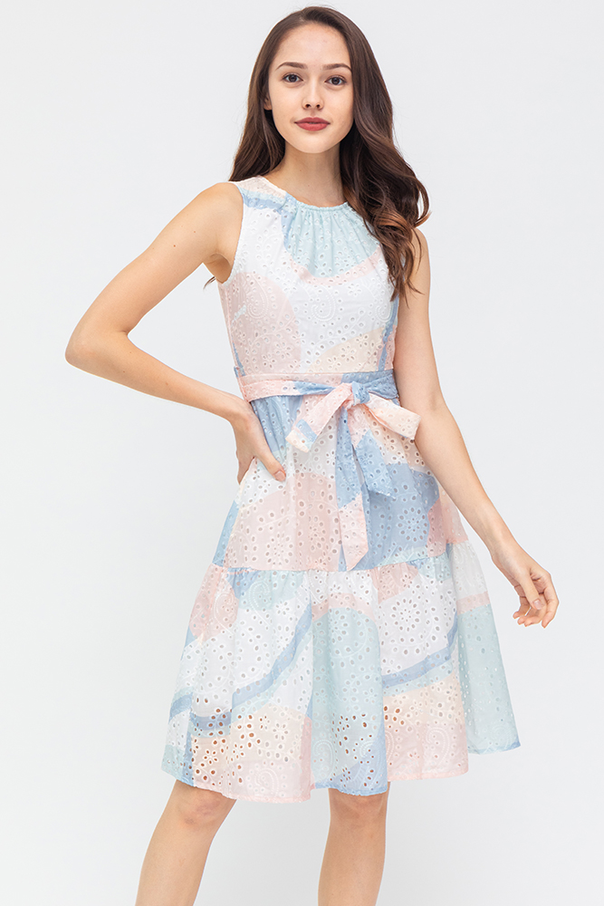 Colours Of The Wind Eyelet Dress (Paddlepop)