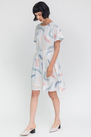 The Artist's Palette Dress W Fabric Mask (White)