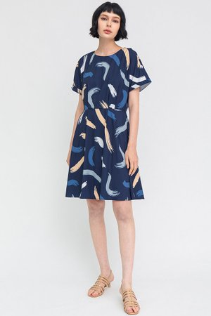 The Artist's Palette Dress W Fabric Mask (Navy)