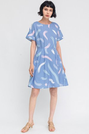 The Artist's Palette Dress W Fabric Mask (Sky)