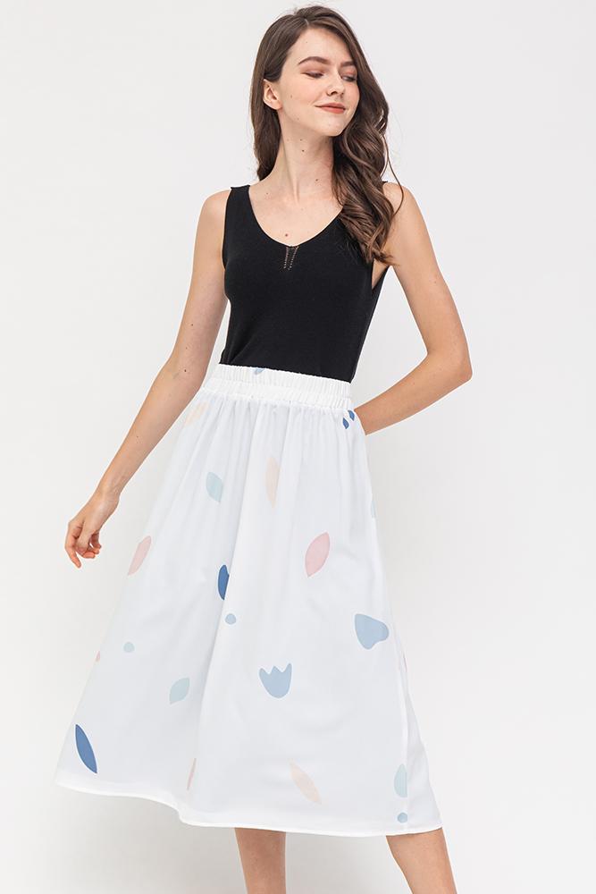 The Arty Factory Reversible Skirt (White/Blue)