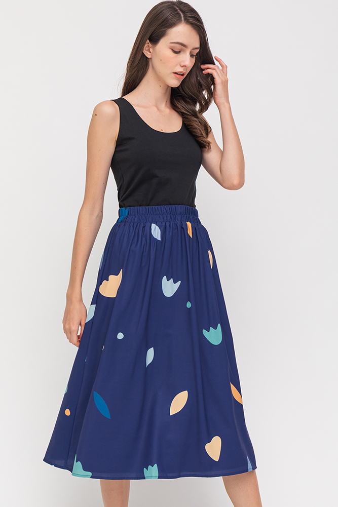 The Arty Factory Reversible Skirt (Navy/Lilac)