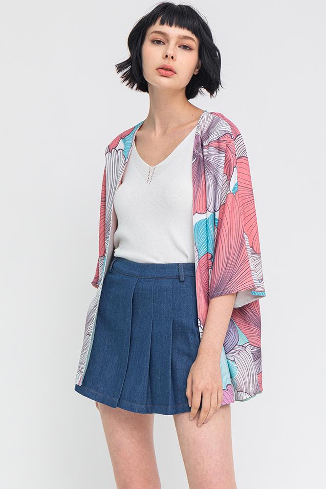 Secret Whisper Reversible Kimono Jacket (Lagoon)
