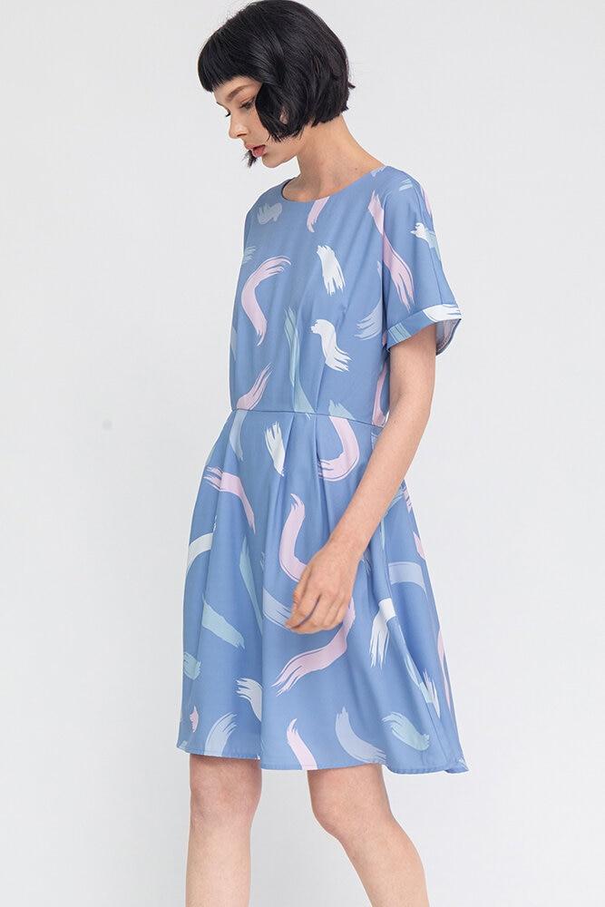 The Artist's Palette Dress W Fabric Mask (Sky)