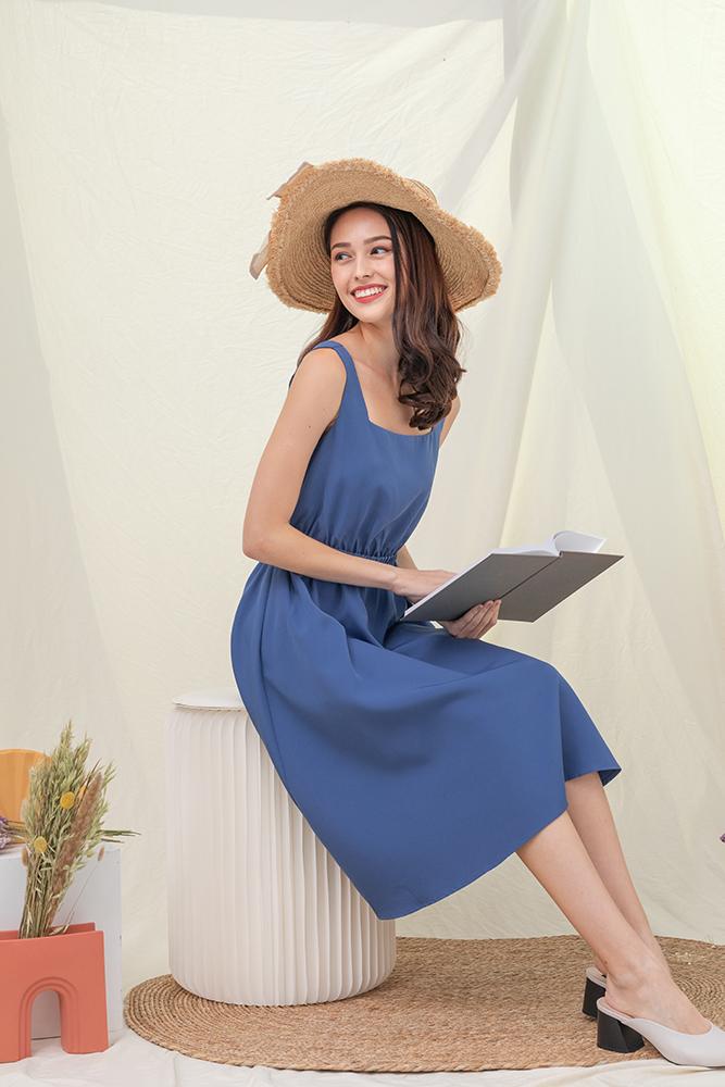 Juliette Holiday Dress (Sapphire Blue)