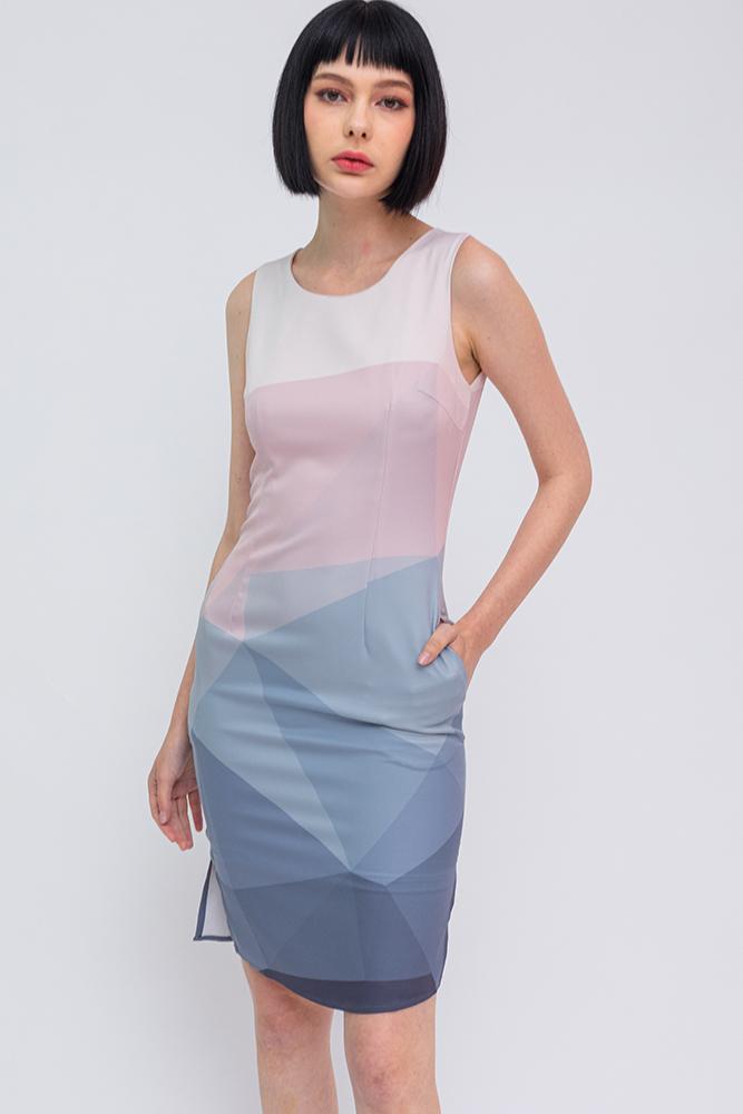 Allegra Ombre Dress (Dawn)