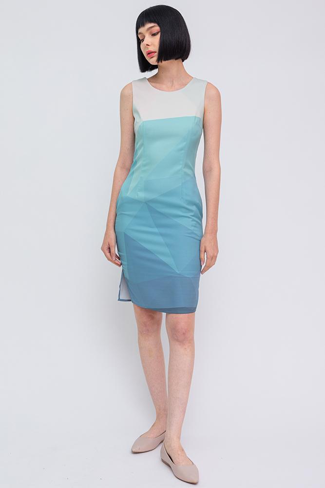 Allegra Ombre Dress (Ocean)