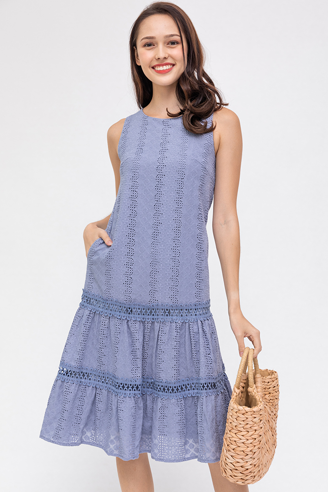 Happiness In Summer Midi Dress (Periwinkle Blue)