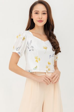 The Botanist Top (Yellow Floral)