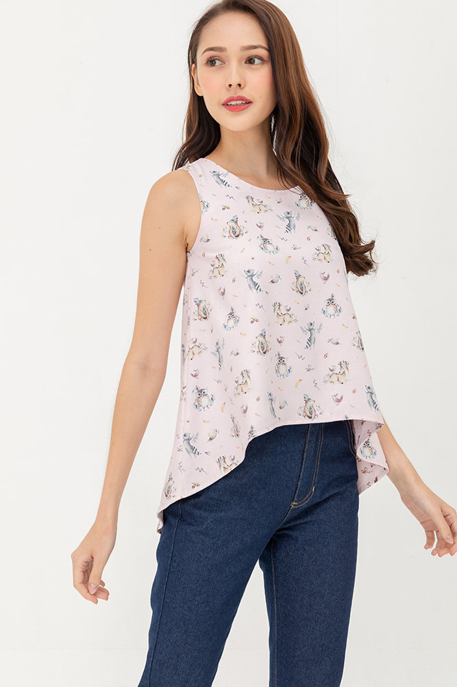 Little Magical Friends High Low Reversible Top (Pink)