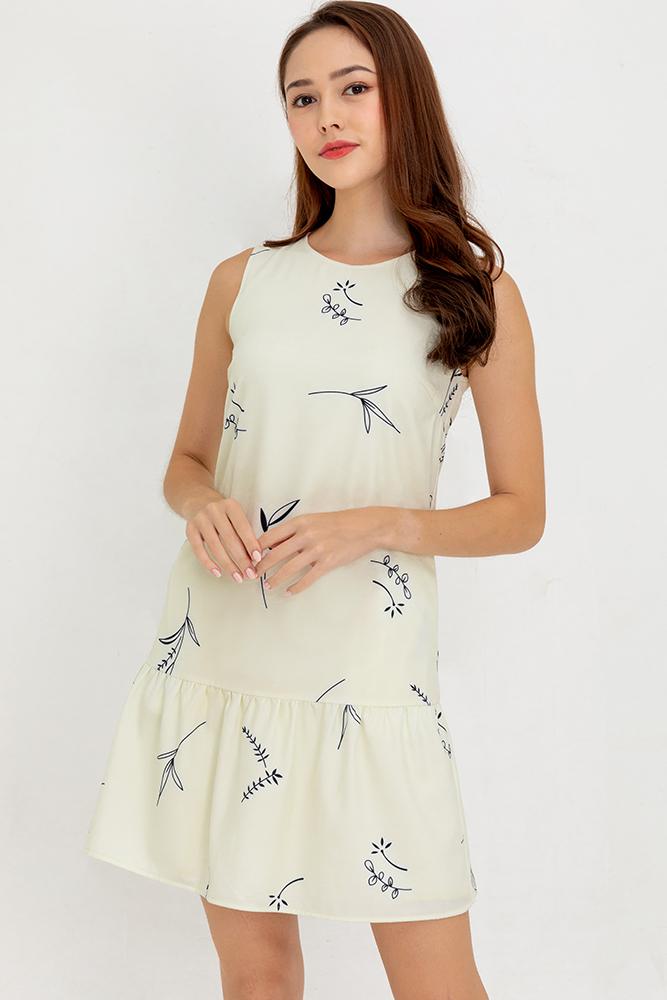 Summer Sparkle Reversible Flounce Dress (Cornsilk)